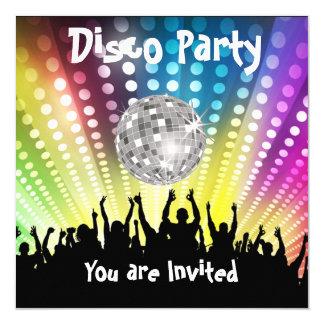De uitnodiging van de Partij van de disco Om het