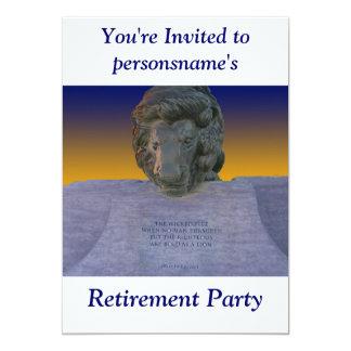 De Uitnodiging van de Partij van de pensionering