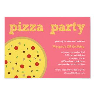 De Uitnodiging van de Partij van de pizza (Pink)