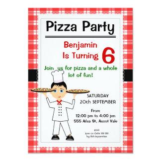 De Uitnodiging van de Partij van de Pizza van de