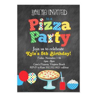 De Uitnodiging van de Partij van de Pizza van het