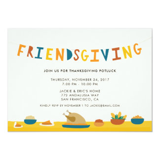 De Uitnodiging van de Partij van Friendsgiving