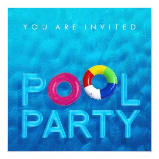 De uitnodiging van de Partij van het Zwembad van