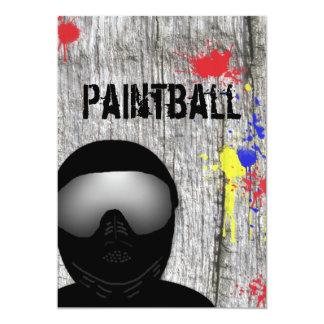 De Uitnodiging van de Partij van Paintball