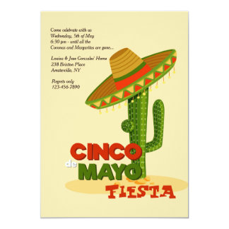 De Uitnodiging van de Sombrero van Cinco DE Mayo