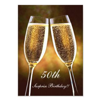 De Uitnodiging van de Verjaardag van Champagne
