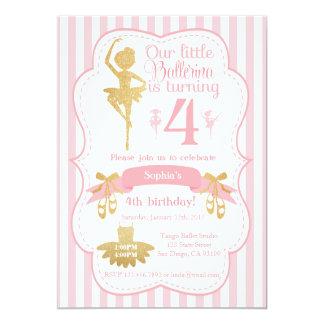 De Uitnodiging van de Verjaardag van de ballerina