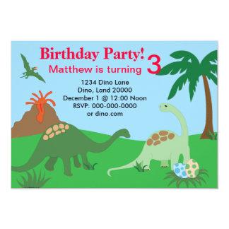 De Uitnodiging van de Verjaardag van de dinosaurus
