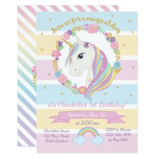 De Uitnodiging van de Verjaardag van de eenhoorn