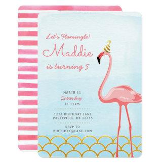 De Uitnodiging van de Verjaardag van de flamingo