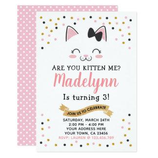De Uitnodiging van de Verjaardag van de Kat van