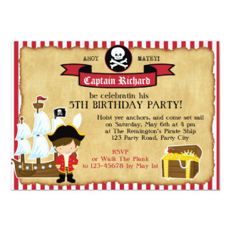 De Uitnodiging van de Verjaardag van de piraat