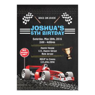 De Uitnodiging van de Verjaardag van de raceauto