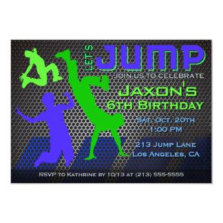 De Uitnodiging van de Verjaardag van de sprong -