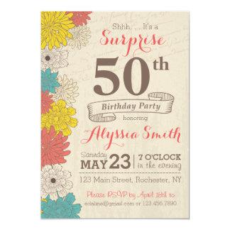 De Uitnodiging van de Verjaardag van de verrassing