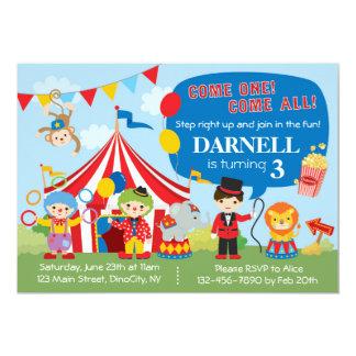 De Uitnodiging van de Verjaardag van het circus