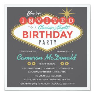 De Uitnodiging van de Verjaardag van Las Vegas van