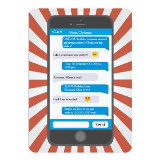 De Uitnodiging van de Verjaardag van Texting van