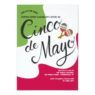 De Uitnodiging van de Vlag van Cinco DE Mayo