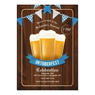 De Uitnodiging van drie Bieren Oktoberfest