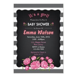 De Uitnodiging van het Baby shower van de bloem