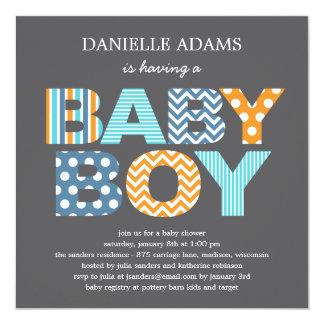 De Uitnodiging van het Baby shower van de Brieven