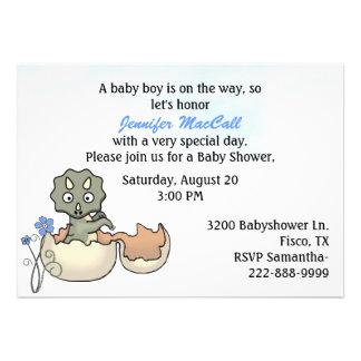De Uitnodiging van het Baby shower van de Dinosaur