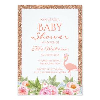 De Uitnodiging van het Baby shower van de flamingo