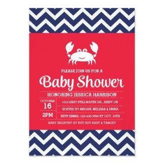 De Uitnodiging van het Baby shower van de krab,
