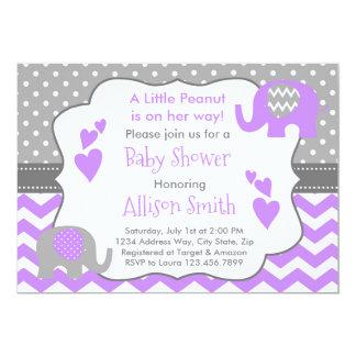 De Uitnodiging van het Baby shower van de olifant,