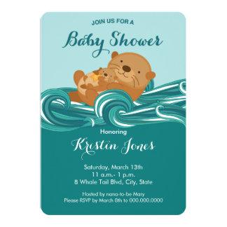De Uitnodiging van het Baby shower van de Otter