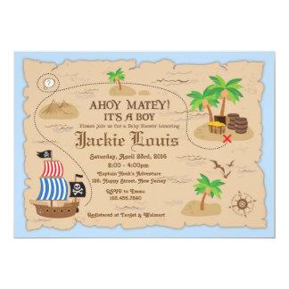 De uitnodiging van het Baby shower van de piraat