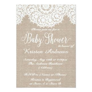 De Uitnodiging van het Baby shower van het kant en
