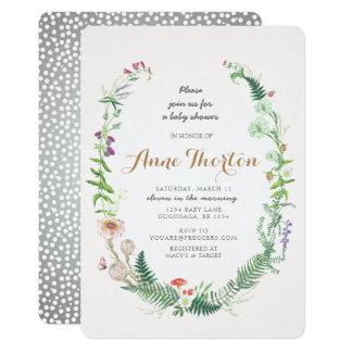De Uitnodiging van het Baby shower van Wildflower