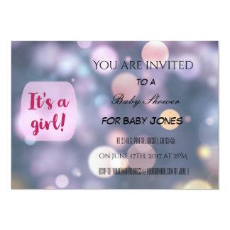 De uitnodiging van het baby shower voor een meisje