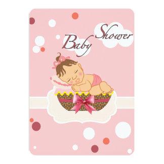 De uitnodiging van het baby shower voor meisje