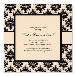 De Uitnodiging van het Damast van de zwarte & van