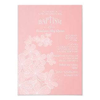 De Uitnodiging van het Doopsel van de Bloemen van 12,7x17,8 Uitnodiging Kaart