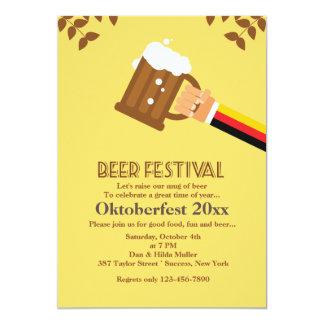 De Uitnodiging van het Festival van het bier 12,7x17,8 Uitnodiging Kaart