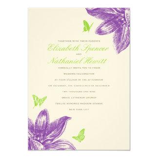 De Uitnodiging van het Huwelijk van bloemblaadjes