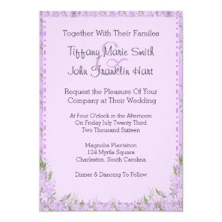 De Uitnodiging van het Huwelijk van de Bloemen van 12,7x17,8 Uitnodiging Kaart