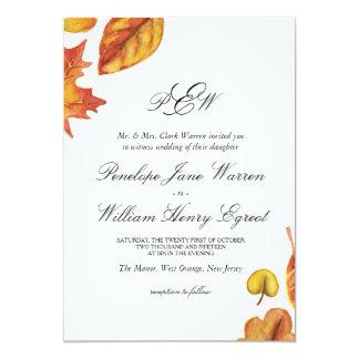 De Uitnodiging van het Huwelijk van de herfst