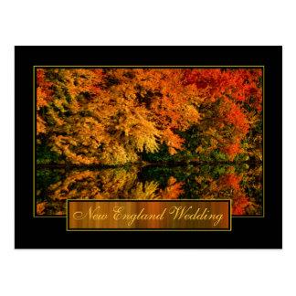 De Uitnodiging van het Huwelijk van de Herfst van Briefkaart