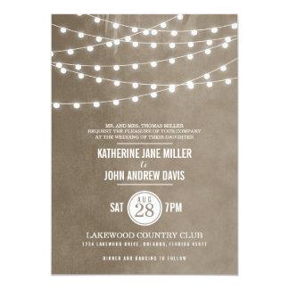 De Uitnodiging van het Huwelijk van de Lichten van 12,7x17,8 Uitnodiging Kaart