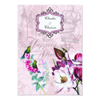 De Uitnodiging van het Huwelijk van de Magnolia's Kaart