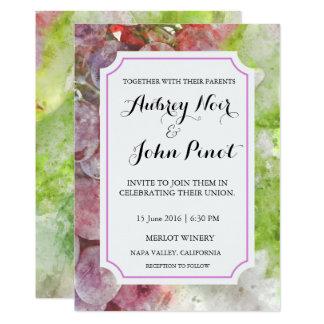 De Uitnodiging van het Huwelijk van de Waterverf Kaart