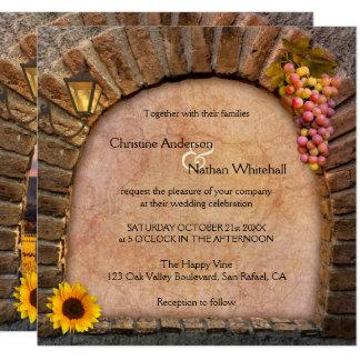 De Uitnodiging van het Huwelijk van de Wijnmakerij