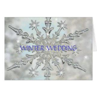 De Uitnodiging van het Huwelijk van de winter