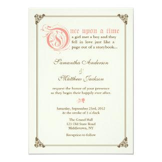 De Uitnodiging van het Huwelijk van Fairytale van 12,7x17,8 Uitnodiging Kaart