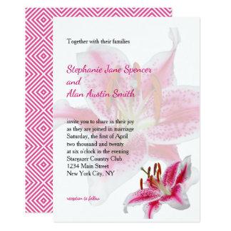De Uitnodiging van het Huwelijk van het Silhouet Kaart
